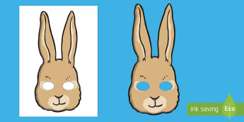 Rabbit Role Play Masks - rabbit, peter rabbit, role play, play, acting, literacy, speaking and listening, world book day, boo - rabbit, peter rabbit, role play, play, acting, literacy, speaking and listening, world book day, boo