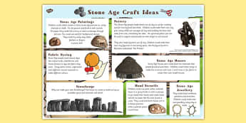 Stone Age Craft Ideas - stone age, craft, art, history, design