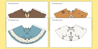 The Three Billy Goats Gruff Cone Characters - cone characters, billy goats gruff, activity, craft, story
