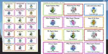 Superhero Themed Characteristics of Effective Learning Stickers - superhero, stickers