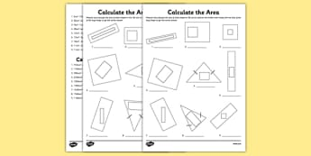 Calculate the Area Activity Sheet Pack - calculate the area, activity, calculate, area, worksheet