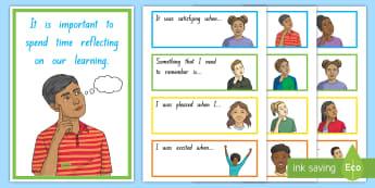 Maths Reflection Prompt Cards - maths, curriculum, reflection, assessment, evaluation, self-assessment