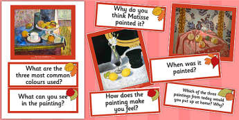 Matisse Paintings Photopack and Prompt Questions - photo, pack