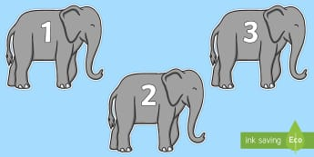 Numbers 0-31 on Elephants to Support Teaching on Elmer - 0-31, foundation stage numeracy, Number recognition, Number flashcards, counting, number frieze, Display numbers, number posters