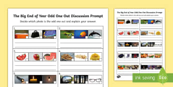 LKS2 The Big End of the Year Odd One Out Activity Sheet - KS2 Transition Day Worksheet