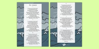 The Jumblies Edward Lear Poem Print Out -poetry, literature, key stage 2, KS2, English, Key Stage 3, KS3