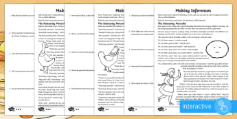 Pancake Day Inference Go Respond Worksheet / Activity Sheet - KS2, Pancake Day, traditional, story, inference, feelings, worksheet, thoughts, motives, actions, ju