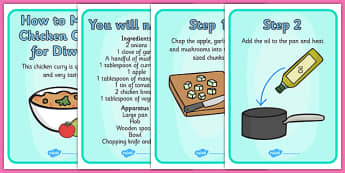Easy Curry Diwali Recipe Cards - cooking, cook, recipes, cards