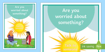 Are You Worried? A4 Display Poster - Mental Health Awareness, world mental health day, Mental health, depression, counselling