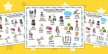 New EAL Starter Instructions Word Mat EAL Romanian Translation