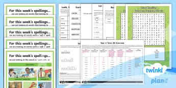 PlanIt Spelling Year 4 Term 2B Bumper Spelling Pack - Spellings Year 4, Y4, spelling, spell, bumper, pack, year 4, spag, gps, spring term 2
