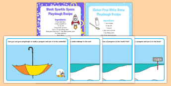 Playdough Recipe and Mat Pack to Support Teaching on Lost and Found - Lost and Found, Oliver Jeffers, polar regions, arctic, antarctic, south pole, malleable, play dough,
