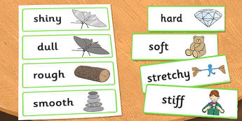 KS1 Everyday Materials Property Word Cards - everyday, materials