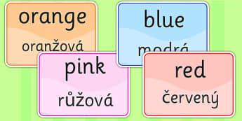 Colour Signs EAL Czech Version - EAL display, lanuages, colour