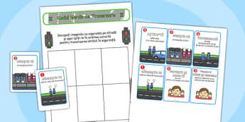 Traversarea corectă a străzii - Joc rutier - traversare, corectă, educație rutieră, traversarea străzii, joc rutier, siguranță, stradă, materiale didactice, română, romana, material, material didactic