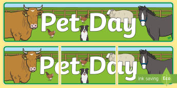 Pet Day (Farm Style) Display Banner  - New Zealand, Pet Day, Farm Safety, Pet Show, farm, banner