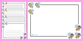 Fairy Page Borders (Landscape) - page border, border, frame, writing frame, fairy page borders, fairies, landscape fairy borders, fairy borders, fairy pages, writing template, writing aid, writing, A4 page, page edge, writing activities, lined page,