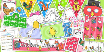Chicken Licken Resource Pack - story books, stories, story pack