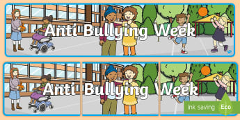 Anti Bullying Week Display Banner - KS1,  EYFS, say no to bullying, PSHE, circle time, school council, reps, buddies