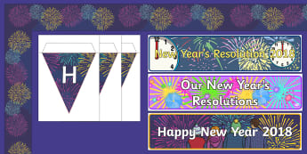 New Year 2018  Display Pack - New year, New year's eve, happy new year, 2017, banner, display