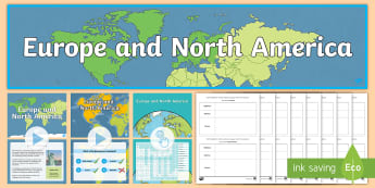 Europe and North America Bumper Activity Pack - ACHASSK111, Vocabulary, Display, Language, Geography, Australian Curriculum, Formative, Assessment,