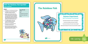 EYFS Will Rainbow Fish Sparkle? Science Experiment and Prompt Card Pack