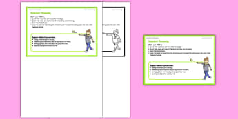 Foundation PE (Reception) - Overarm Throwing Teacher Support Card - EYFS, PE, Physical Development