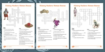 History Hackers: Roman Rescue Differentiated Crossword - Key Words, History, Fiction, Vocabulary, Glossary, Romans