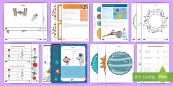 Space Early Childhood Activity Pack - space, The planets, the universe, the moon, planet earth, astronauts, space travel, rocket ship, spa