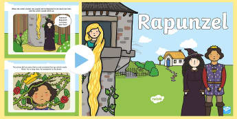 Rapunzel Story PowerPoint - rapunzel, story books, trad tales