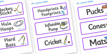Lynx - Star Constellation Themed Editable PE Resource Labels - Themed PE label, PE equipment, PE, physical education, PE cupboard, PE, physical development, quoits, cones, bats, balls, Resource Label, Editable Labels, KS1 Labels, Foundation Labels, F