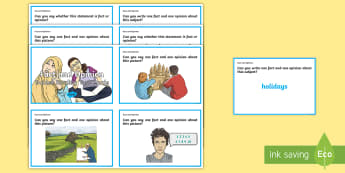 Guided Reading Skills Task Cards Fact and Opinion - fact, reading