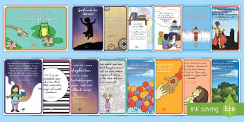 Motivierende Poster Materialienbündel - Motivation, Inspiration, Deko, lesen, lernen, Zitate,,German