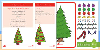 The Lights on the Tree Song - Mat time, board stories, magnet songs, Christmas, Xmas