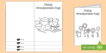 Grandparents Day Coloring Cards - Grandparents, Day, event, Australia, gift, cards, activity,Australia