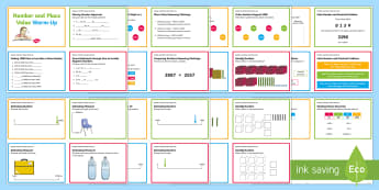 Year 4 Number and Place Value Warm-Up Challenge Cards  - KS2 Maths warm up powerpoints, Year 4 maths warm up, year 4 maths warm up, Year 4 maths warm up powe