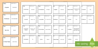 Customs in Spanish Speaking Countries Loop Cards Spanish - Secondary, 15, minutes, revision, spellings, customs, spanish, speaking, countries, topic, activitie