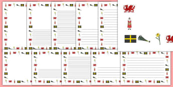 St David's Day Page Borders