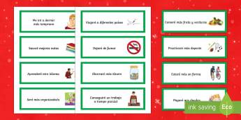 New Year's Resolutions Word Cards