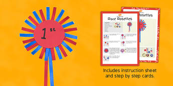 Race Rosettes Craft Instructions - instructions, craft, race, rosettes