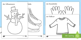 Winter Anmalbilder - Winter Anmalbilder, Winter, Winterzeit, Winter Anmalbild, Winterzeit Anmalbild, Schneemann, Skier, W