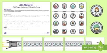 Multiplayer Rocket Addition and Subtraction Game - Addition and Subtraction Activity to 20 - add, +, substraction, adition, suntraction, subraction, ad