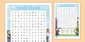 Fleadh Cheoil Word Search-Irish