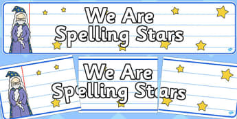 We Are Spelling Stars Display Banner - spelling, stars, display banner