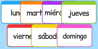 Days of the Week Flashcards Spanish - spanish, days of the week, days, week, flashcards, flash cards