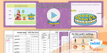 PlanIt Y1 Term 2A W5: Adding -er and -est to Adjectives Spelling Pack - Spellings Year 1, Term 2A, Week 5, er, est, compare, comparative, ks1, y1, spelling, ppt, slideshow