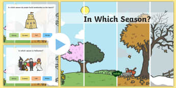 Weather & Seasons PowerPoint -  seasons, weather, quiz , weather, summer, winter, fall, spring, WHEATHER, seaons, wetaher, weaher,