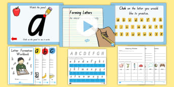 Queensland Letter Formation Resource Pack - Writing, Handwriting, Activity Sheets, Activity Booklet,Australia