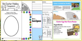 Easter KS2 Home Learning Pack - easter, ks2, home learning, pack, home, learning, home education