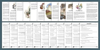 History Hackers: Roman Rescue Differentiated Reading Comprehension Activity Pack - English, Worksheet, inference, predict, fiction, summarise, text, sats